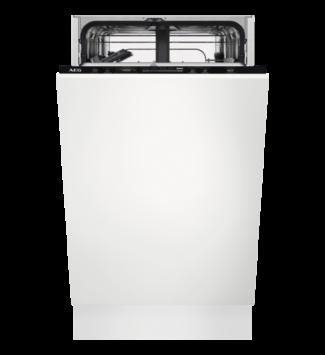 AEG beépíthető keskeny, 45 cm mosogatógép,Quickselect kezelőpanel, 9 teríték, AirDry, E, FSE62417P