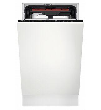 AEG beépíthető keskeny, 45 cm mosogatógép,Quickselect kezelőpanel, MaxiFlex fiók, 10 teríték, AirDry, D, FSE73507P