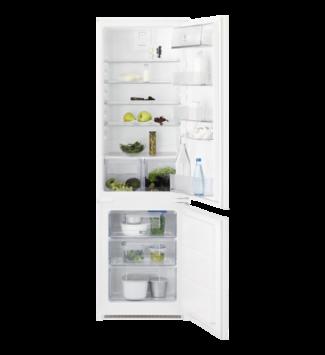 Electrolux LNT3FF18S Beépíthető kombinált hűtőszekrény, 178 cm, F, nettó kapacitás (hűtőtér/fagyasztótér): 195 l/72 l, zajszint 35 dB,