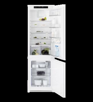 Electrolux Beépíthető Alulfagyasztós Hűtőgép LNT7TF18S, F, 178 cm, TwinTech NoFrost,nettó kapacitás (hűtőtér/fagyasztótér): 192 l/61 l, zajszint: 38 dB