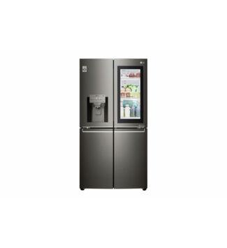LG A+ energiaosztályú InstaView Door-in-Door™ négyajtós, Total No Frost hűtőszekrény  GMX936SBHV