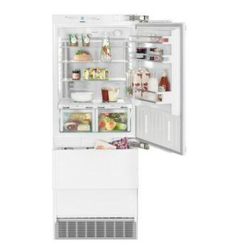 """Liebherr ECBN 5066(001) Beépíthető  kombinált hűtő-fagyasztó, PremiumPlus BioFresh NoFrost, """"F"""", 379 l, 203 cm, jobbos ajtónyitás"""