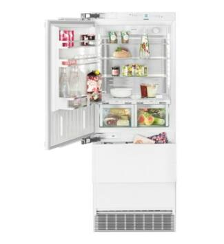 """Liebherr ECBN 5066(617) Beépíthető  kombinált hűtő-fagyasztó, PremiumPlus BioFresh NoFrost, """"F"""", 379 l, 203 cm, balos ajtónyitás"""
