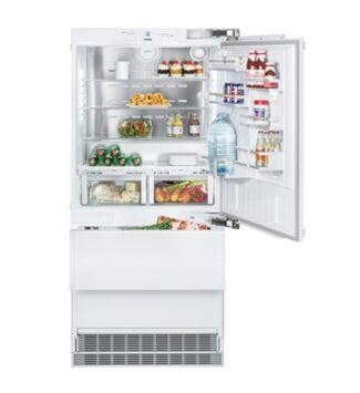 Liebherr ECBN 6156(001) Beépíthető Kombinált Hűtőgép jobbos ajtóval, 471 l, F,
