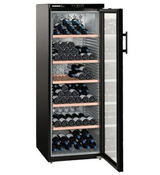 Liebherr WKb 4212 Szabadonálló Borklíma készülék G, Fekete, 200 palack, 395 l,