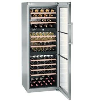 Liebherr WTes 5872 Szabadonálló Bortemperáló készülék G,Nemesacél, 178 palack, 496 l,